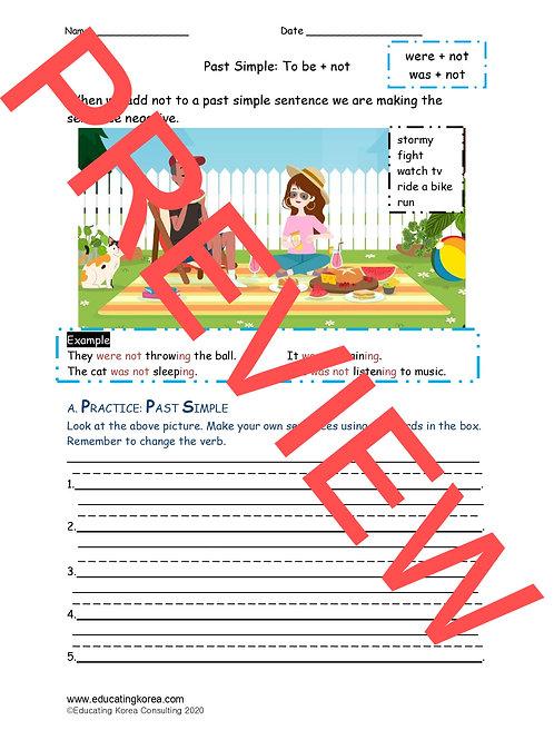 Past Simple + Not Worksheet