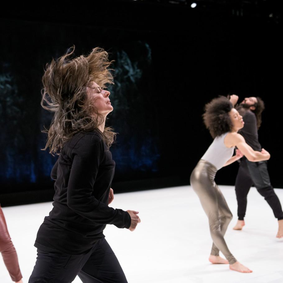 Dancer/choreographer Kathy Westwater, foreground