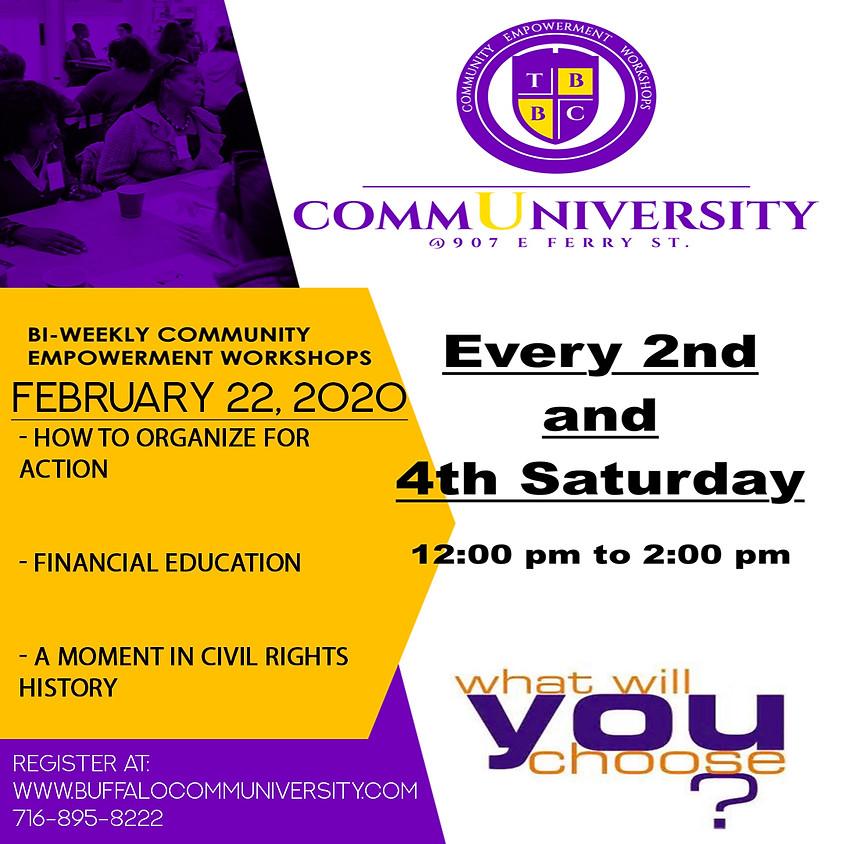 February 22 - Communiversity Sessions