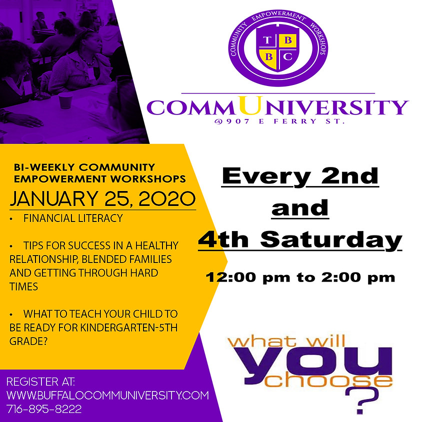 January 25 - Communiversity Sessions