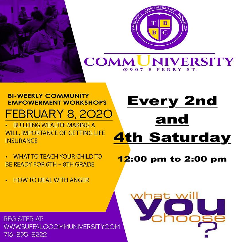 February 8 - Communiversity Sessions