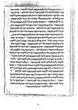 רשימת צדקה מקהילה יהודית