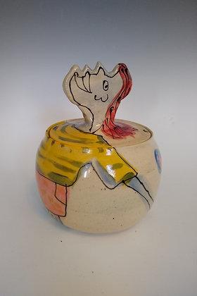 Head Jar by Mayetta Steier