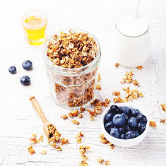 Great tasting Fruity Granola with Blueberries for breakfast