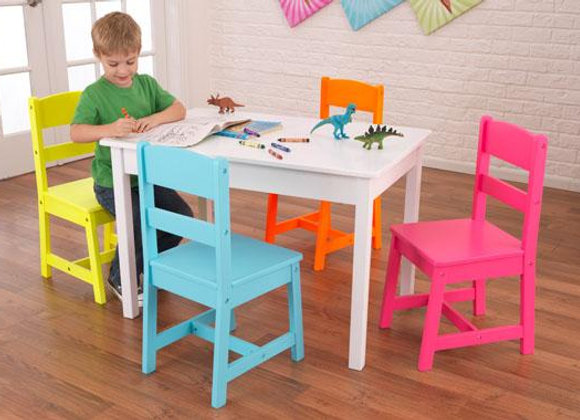 Highlighter Table & 4 Chairs by KidKraft