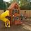 Thumbnail: Preston Deluxe Cedar Swing Set with Tube Slide