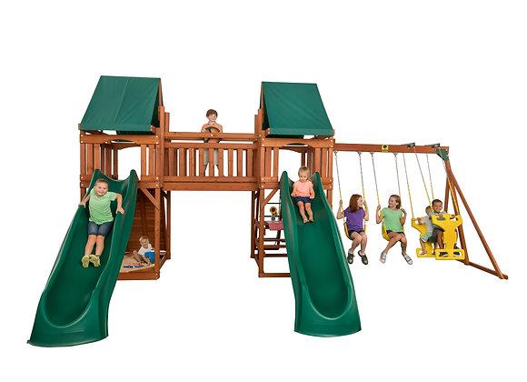 Sequoia Cedar Swing Set with Double Slides