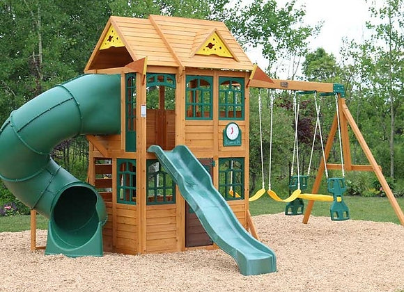 Charleston Lodge Wooden Swingset
