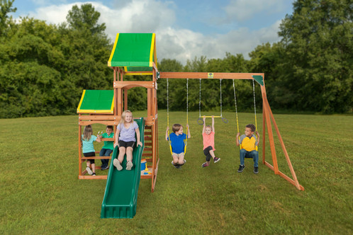 Woodlands Cedar Wood Playset