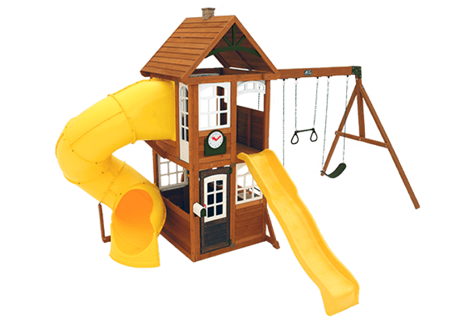 Wooden Swing Sets Playsets Backyard Imagination - Wood backyard playsets
