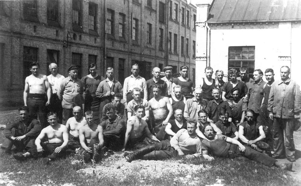 Рабочие обувной фабрики, Торнякалнс, 1940 г.