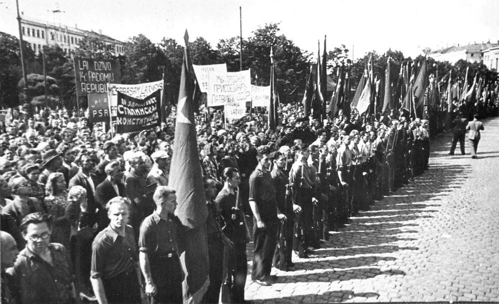 Рига, Привокзальная площадь, 31 июля 1940 г.