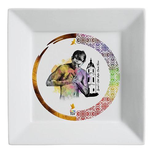 Plate (small) «PRIDE TLV. Jaffa clock»