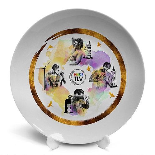 Plate «PRIDE TLV. 4 handsome»