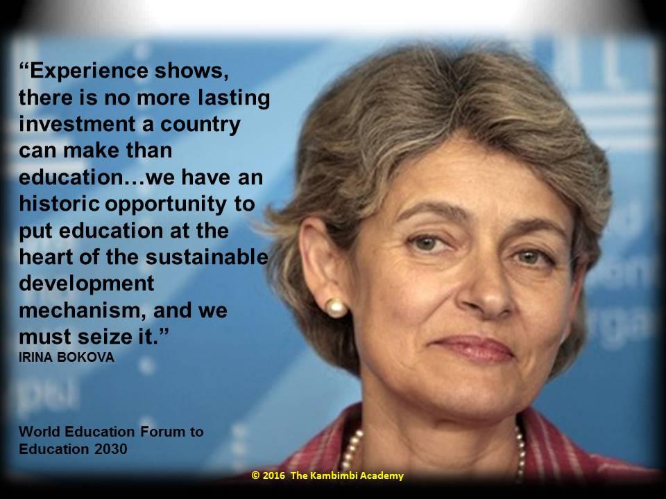 Irina Bokova, Director-Gen, UNESCO