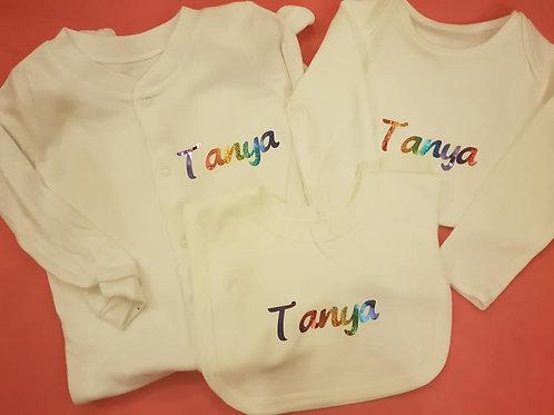 Rainbow Babygrow Set