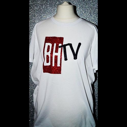 BHTV WHITE GLITTER T-SHIRT