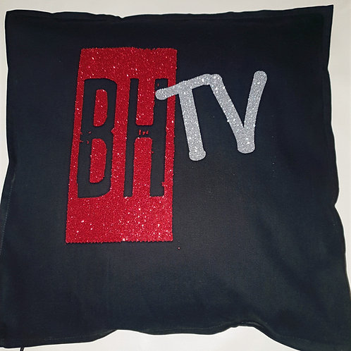 BHTV GLITTER BLACK CUSHION