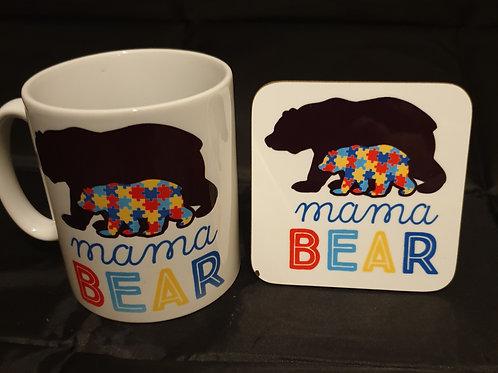 Autism Mug & Coaster Set #8