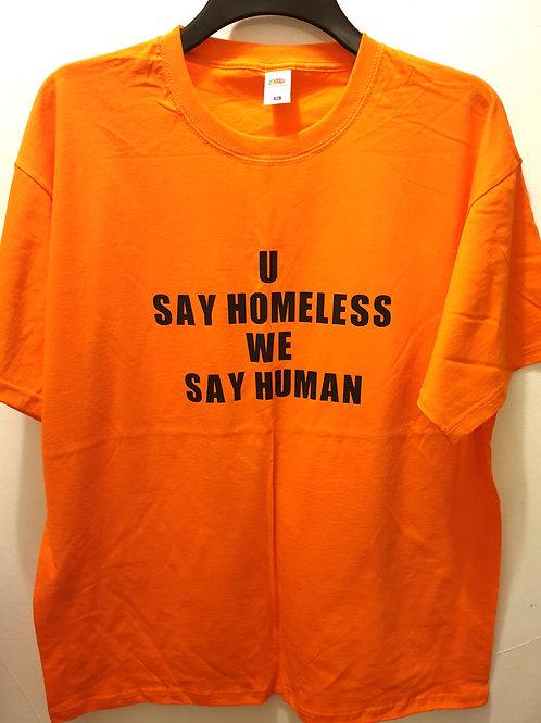 WE SAY HUMAN T-SHIRT'S