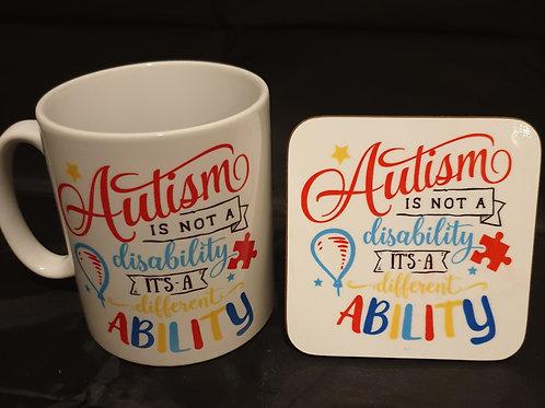 Autism Mug & Coaster Set #3
