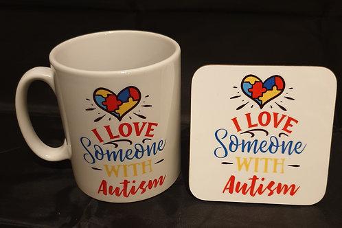 Autism Mug & Coaster Set #5