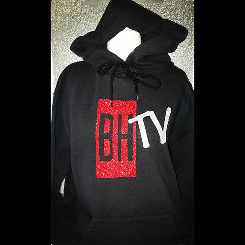 BHTV BLACK GLITTER HOODIE