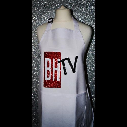 BHTV WHITE GLITTER APRON