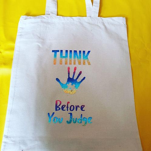 Autism Think Tote Bag