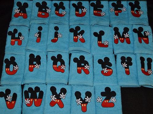 Micky mouse alphabet flannels