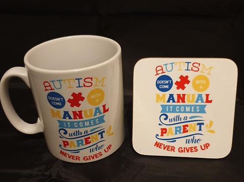 Autism Mug & Coaster Set #9