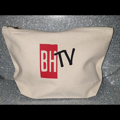 BHTV White Cosmetic Bag