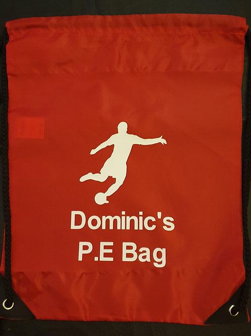 Personalised Football Drawsting Bags