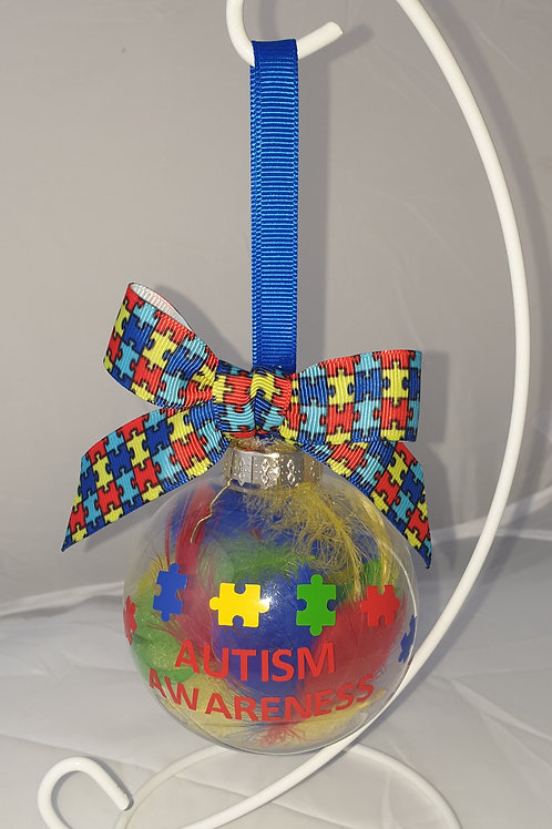 Autism Bauble With Bow