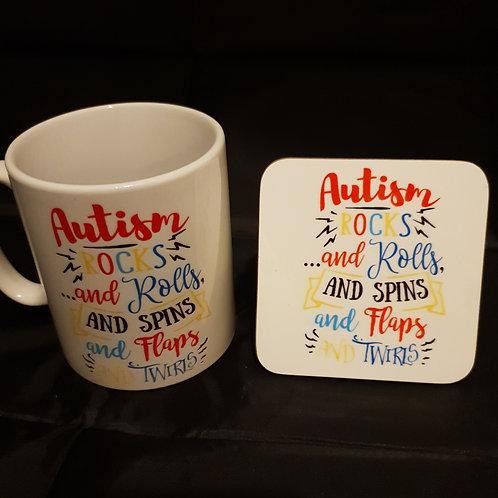 Autism Mug & Coaster Set #2