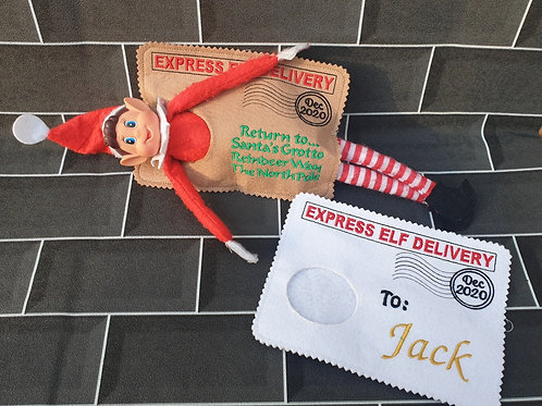 Personalised Elf Arrival & Departure Envelopes Set