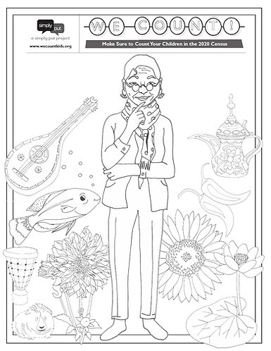 WE COUNT! Census Coloring Pages