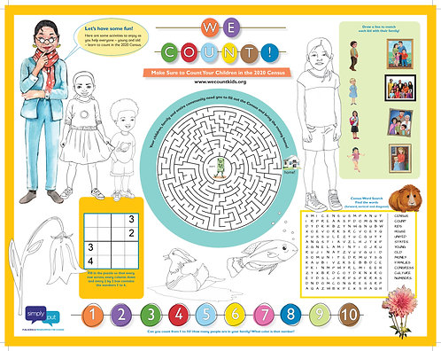 500 WE COUNT! Activity Placemats