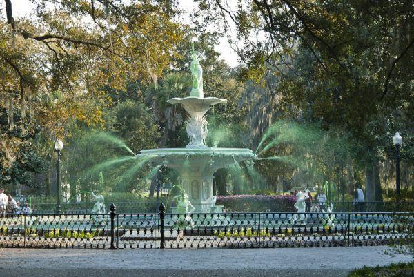 St. Patrick's Day Savannah Greening of the Fountain Forsyth