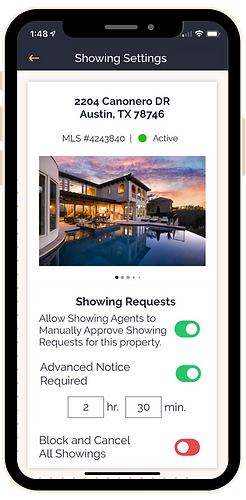 Listing Agent app (Showing Settings).png