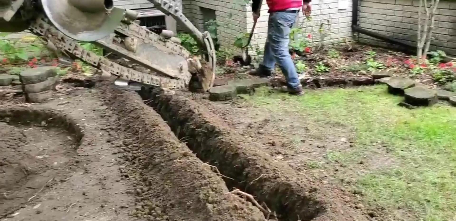 Trenching-excavating