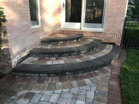 Brick Paver Steps and Patio