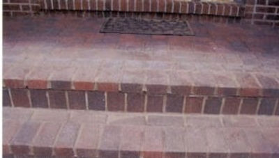 properly repaired paver steps