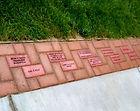 fundraiser walkway pavers