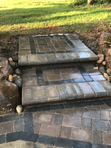 Brick Paver Steps