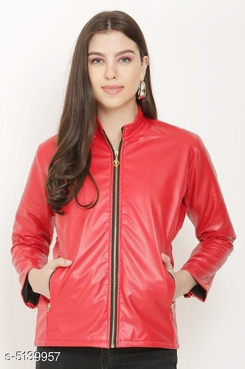red women jacket