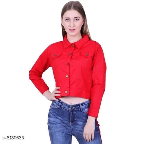red fabulous women jacket