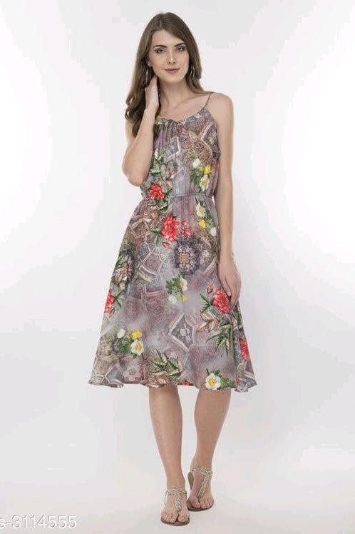 gorgeous stylish printed dress