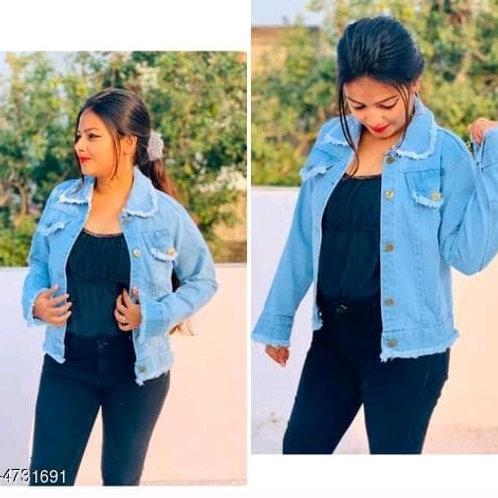 stylish denim women's jacket