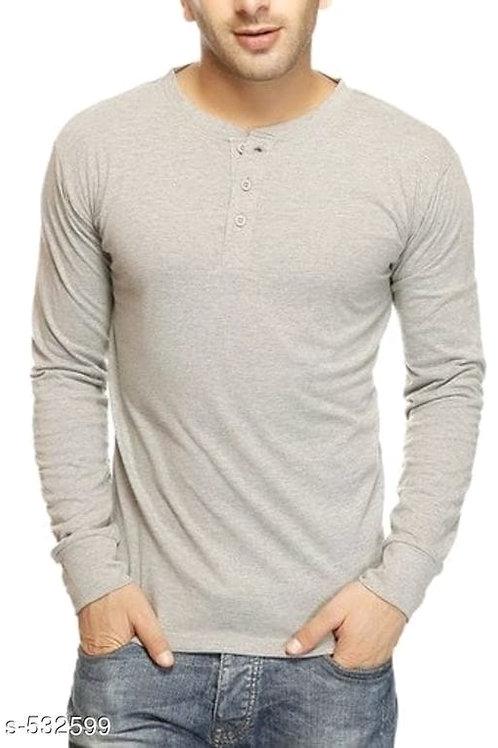 men's solid drepey cotton t-shirt